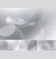 circle abstract background - white vector image