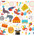 circus seamless pattern holiday carnival endless vector image vector image