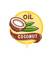 coconut oil logo vector image
