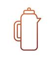 coffee maker mocha pot restaurant menu vector image