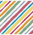 color striped lines watercolor seamless pattern vector image vector image