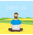 concept of downshifting vector image vector image