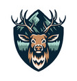 deer with mountains vector image