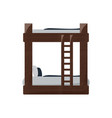 double deck bed icon vector image vector image