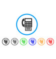 fax machine rounded icon vector image