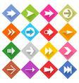 flat arrow icon set web rhomb button