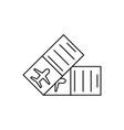 flight ticket icon vector image