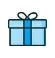 gift box present in in flat style on white vector image vector image