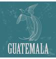 Guatemala landmarks Retro styled image vector image vector image