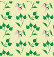 hand drawn pink and green flower buds on a subtly vector image