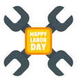 happy labor day keys logo icon flat style vector image