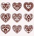 hearts pattern tattoo romantic Hearts vector image