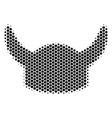 hexagon halftone horned helmet icon vector image vector image