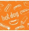 Hot Dog Seamless Pattern vector image vector image