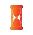 Hourglass sign Orange applique vector image vector image