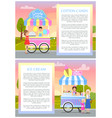 ice cream and cotton candy vector image vector image