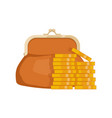 icon of wallet with money purse with cash vector image vector image