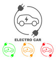 icons of electric cars the indication of vector image