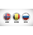 Isolated flags buttons of europe design vector image