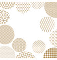 japanese pattern circles on vector image