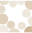 japanese pattern circles vector image