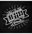lettering hand drawing theme coffee vector image vector image