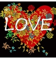 Love Background On Black vector image vector image
