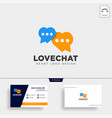 love chat simple creative logo template icon vector image