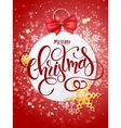 merry christmas lettering with paper vector image vector image