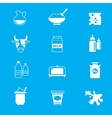 Milk dairy products icons set vector image