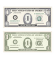 money set paper banknotes one dollar vector image vector image