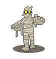 mummy halloween cartoon character vector image vector image