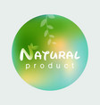 natural product logo design template branch with vector image vector image