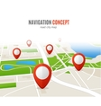 Navigation Concept Road City Map vector image