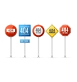 Not Found Error Concept Roadsign Set vector image vector image