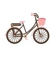 old bicycle retro icon vector image vector image