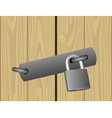padlocked door vector image vector image