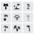 palm icon set vector image vector image
