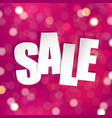 pink sale poster vector image vector image