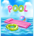 pool realistic poster vector image vector image