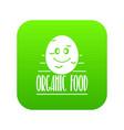 potato icon green vector image