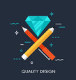 quality design concept vector image