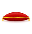 red velvet pillow vector image vector image