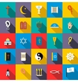 Religion icons set flat style vector image vector image
