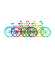 Retro bike concept silhouette bicycle colorful vector image