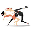 romantic dancing young couple vector image vector image