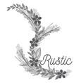 Rustic wreath hand drawn