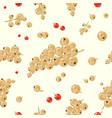 seamless pattern white currant berries vector image vector image