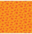 Seamless pattern with cartoon physalis vector image vector image