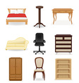 set icons furniture 04 vector image vector image